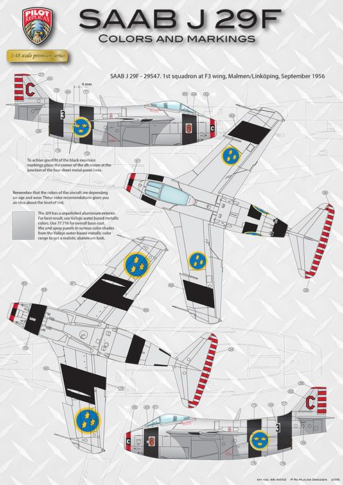 Pilot Replicas Kit No. 48-A-002 - SAAB J29F Tunnan Review by Jim Hatch: Image