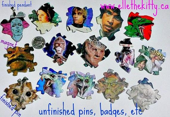 star wars Hobbit fairy monster fantasy art (recyled SW cards, hobbit graphic novel) by ellethekitty on Etsy, $12.00