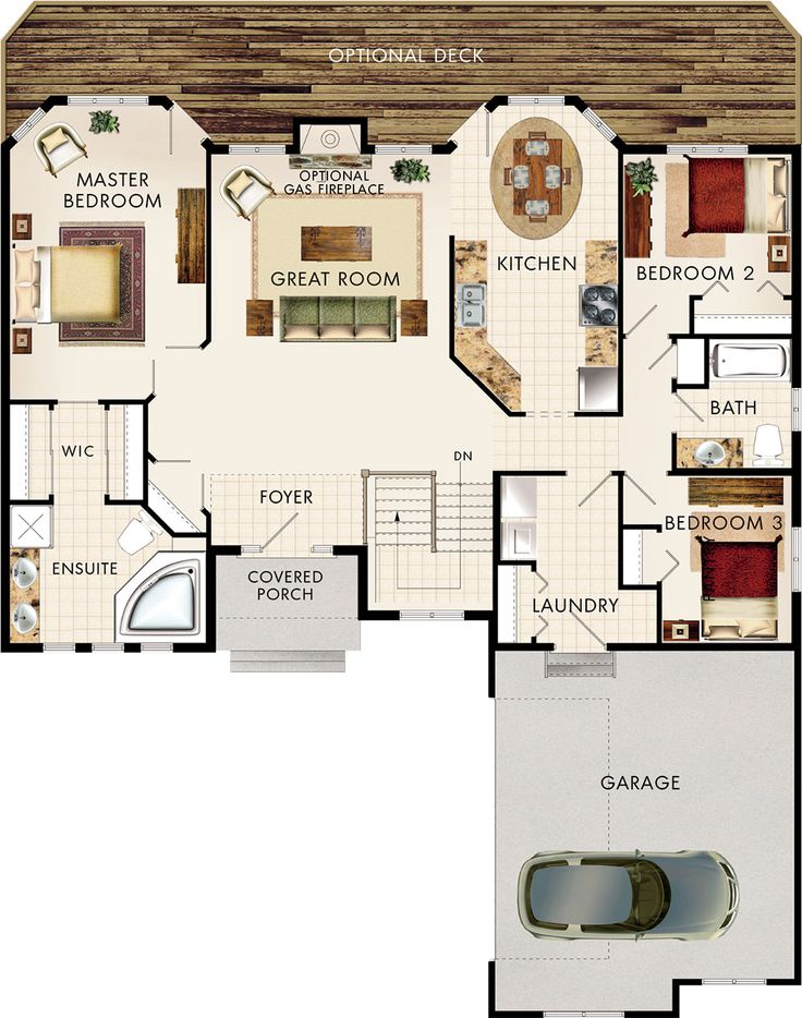 Amberwood Floor Plan hmmmmmmm don't need stairs, half bath instead? This could absolutely perfect!!!!!!!