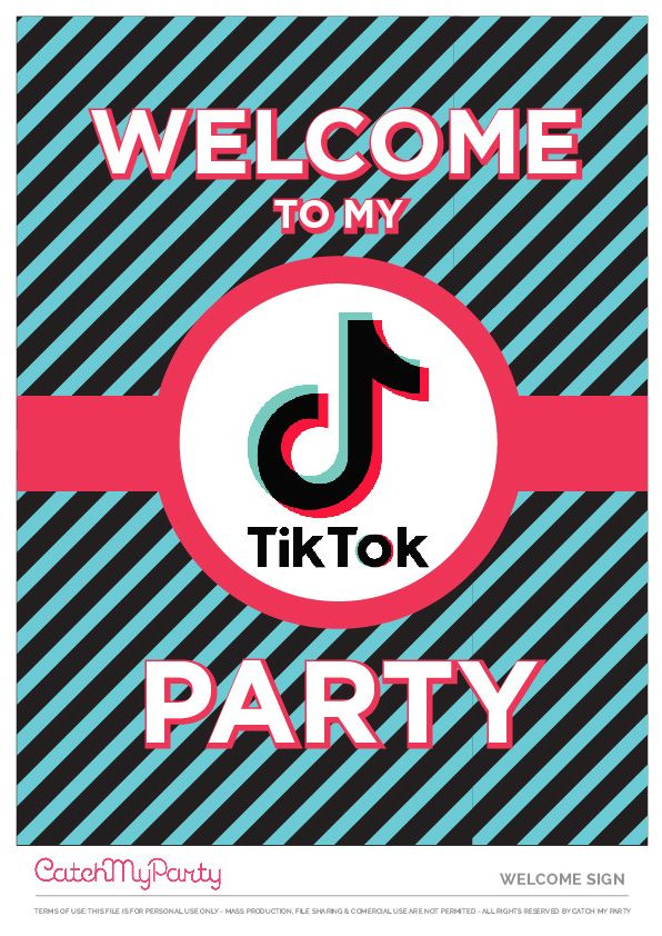 Download These Fun Free Tiktok Party Printables Catch My Party Party Printables Party Printables Free Catch My Party
