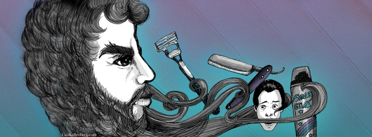 Beard!   © Cecilia Broberg 2013 www.ceciliabroberg.com