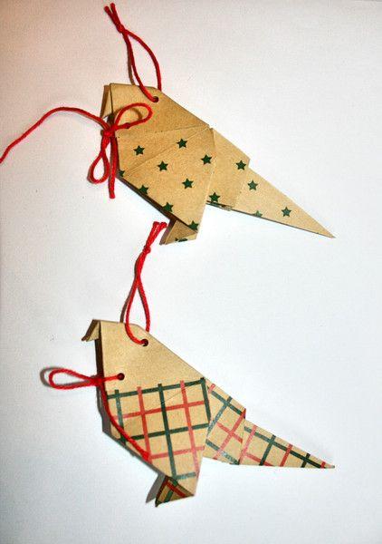 papieren vogels kertboom van LeafyLife op DaWanda.com