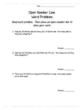 This week, my students are working on adding 2-digit numbers using a number line. So I created this worksheet of word problems to not only practice making and adding on number lines, but to practice reading word problems. It can also be used to practice any method of adding 2-digit addition. Print and enjoy!