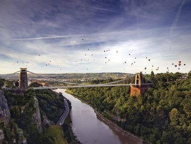 Clifton suspension bridge with balloons... So Bristol.