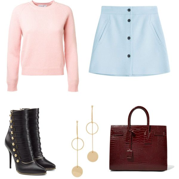 💖💖💖💖the skirt by annabellabeautiful on Polyvore featuring мода, Paul & Joe, Balmain, Yves Saint Laurent and Cloverpost