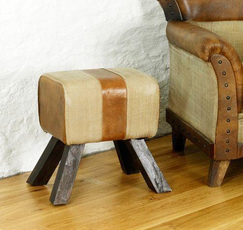 Roadie Chic Leather Footstool #lounge #livingroom #interior #bohointerior #bohemianhome #bohemian #footstool #stool #homedecor #leather #furniture #woodfurniture #homeinspiration