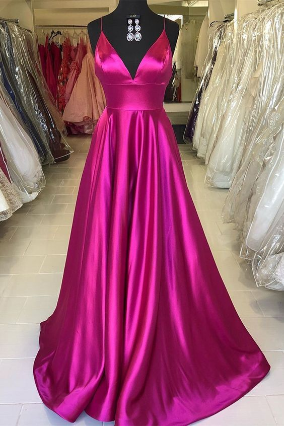 3b0da53dce7 Spaghetti Straps Fuchsia Prom Dresses. Rose Red Prom Dress Evening Dress  Formal Occasion Party Dress on Storenvy Prom Dresses Long Pink