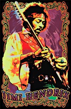 Jimi Hendrix Voodoo Child 23x35 Blacklight Poster