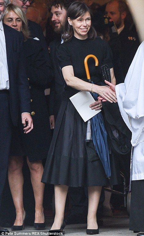 Lady Sarah Chatto, the Queen's niece, attends the funeral of Countess Mountbatten of Burma at St.Paul's church on 27 June 2017 in Knightsbridge, London