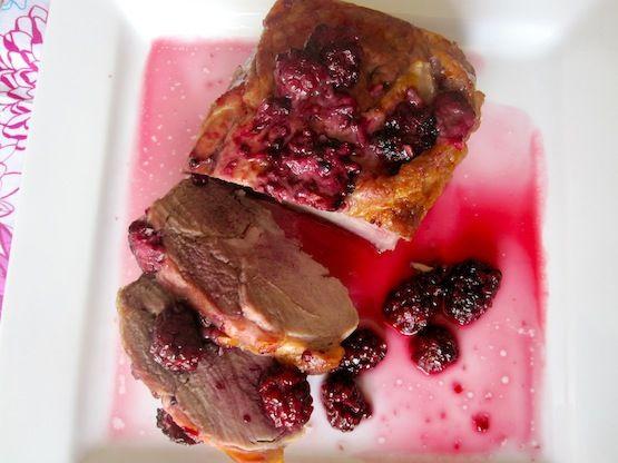 Lomo de Cerdo con Salsa de Moras (Pork Loin with Blackberry Sauce)
