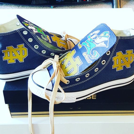 Custom Notre Dame Fighting Irish Converse Version by CustomChuckz