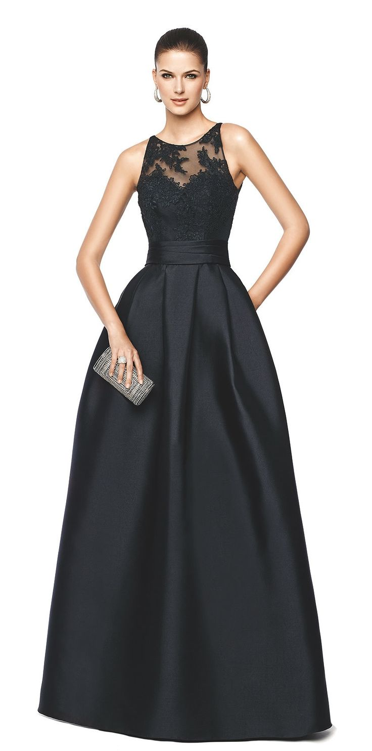 NALLIBE - flared black cocktail dress. Pronovias 2015 | Pronovias