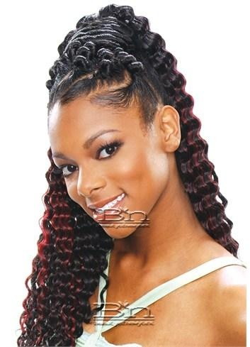 I love this... Easy Care free style still classic. Meaning the rainfall of waves and the twists in the front and around the hair on top.  I still like twists..