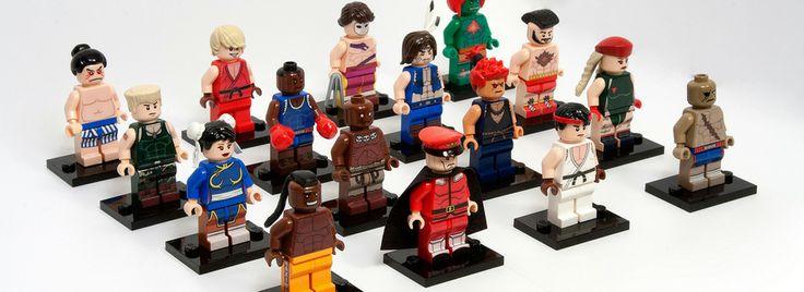 Minifigs Street Fighter 2 Lego | Black Pizza | Le blog pop livré à domicile.