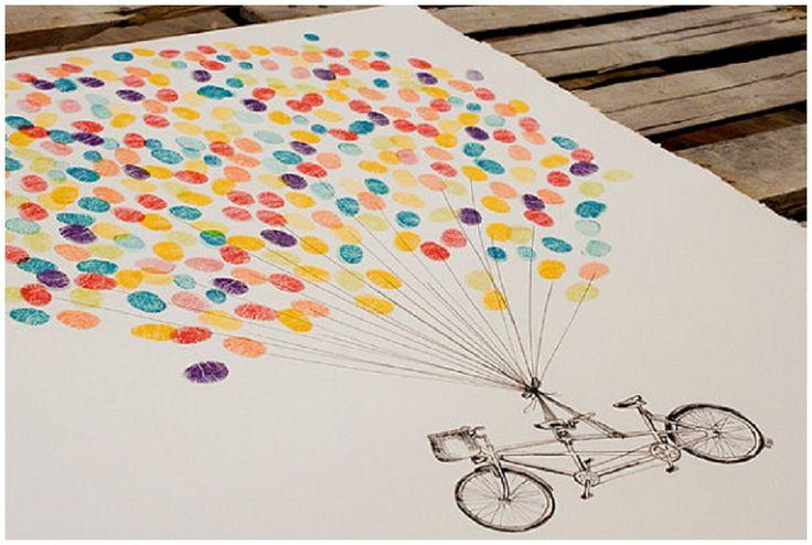 """""""Gästebuch"""" der kreativen Art: Bunte Luftballons mal anders! :)"""