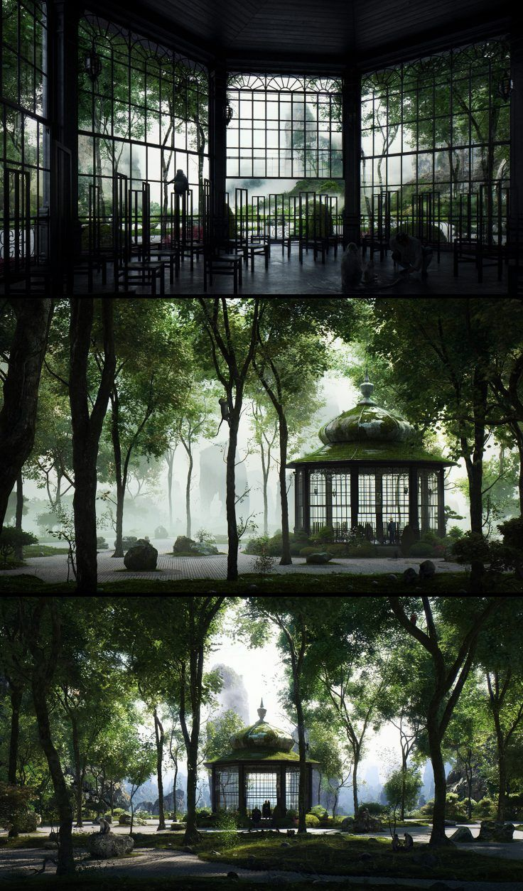 Valley of the Monkeys, created by Tamas Medve using 3ds Max and VRay.
