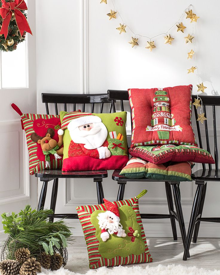 ¡Cojines navideños para ambientar tus muebles esta Navidad! #LaNavidadDeLasCasas #easytienda #tiendaeasy #Navidad2016 #Easy