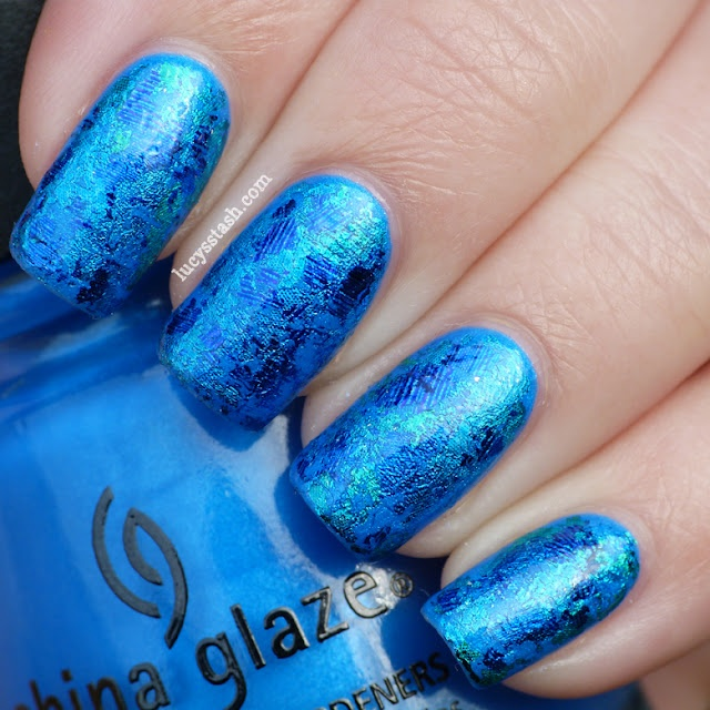 18 best swimming nails images on pinterest swimming pools beach todays summer challenge theme is swimming pool so ive decided to recreate the sparkling shining water using foil ive used two coats of china glaze prinsesfo Image collections