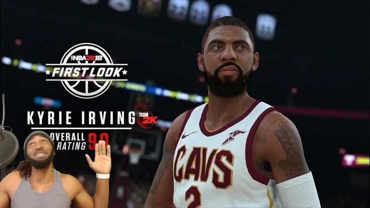 NBA 2K18 KYRIE IRVING SCREEN SHOT IN CAVS UNIFORM & OVERALL RATINGS