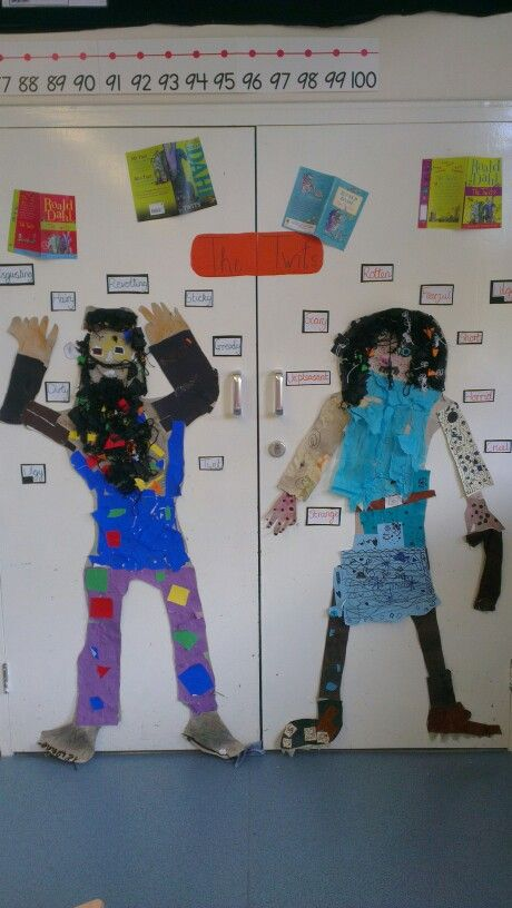 The Twits, literacy display; using descriptive language