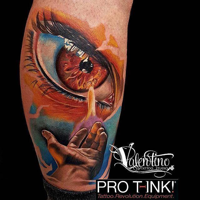 : Valentino tattoo studio : @valentino_tattoo_studio  Tatuaggio realizzazione al terzo giorno della @casertatattooconvention Eseguito in 6 ore e molto soddisfatto di questo progetto creato interamente da me!! FOLLOW ME ON FACEBOOK: VALENTINO TATTOO STUDIO #surrealism #realistic #realism #eye #hand #flame #fire #color #worldfamousink#bestrealistictattoos #art #protink #sponsored @pro_t_ink @dermalizepro @inkedmag @inkedmagitaly @iltatuaggioitalia @sullenclothing @sullentv @ink.ig…