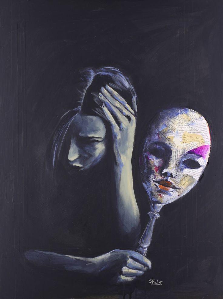 Die Maske, die sie hinter der Malerei von Sara Riches verbirgt Viv Morales