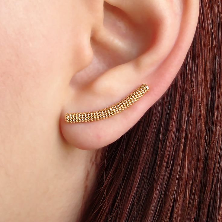 Emmanuela.gr - Handmade Jewelry - Gold Plated Twisted Wire Ear Climbers