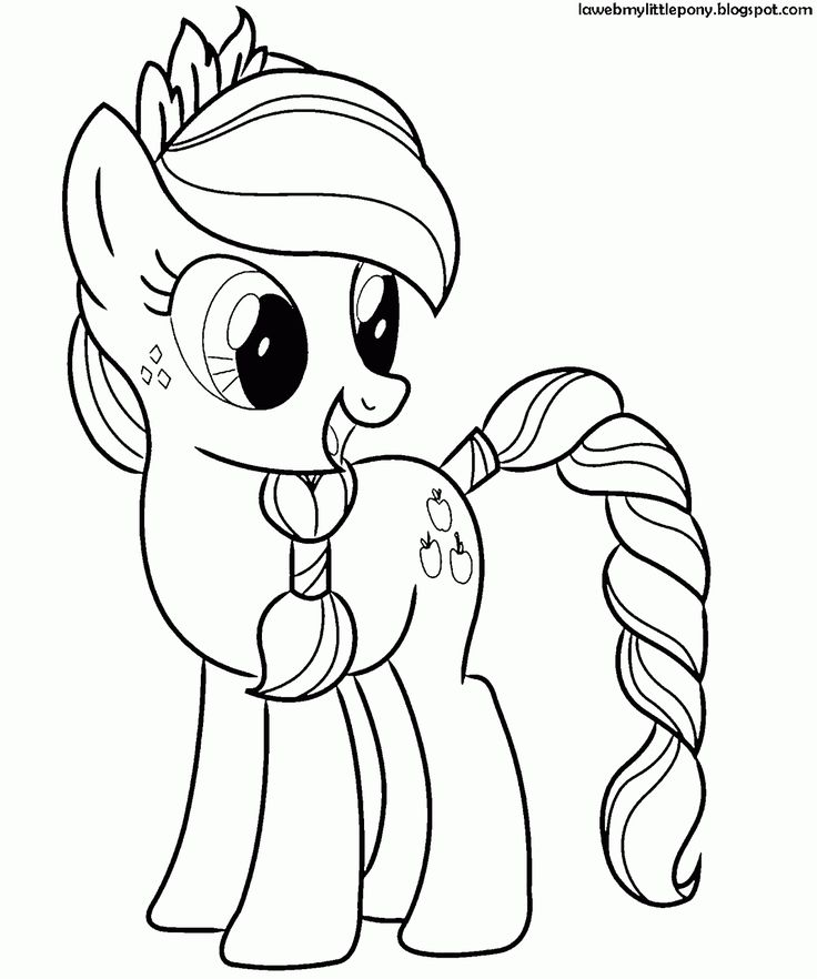 My Little Pony: Dibujos para colorear de Applejack de My Little Pony ...