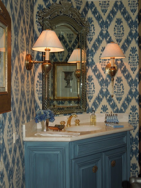 Powder rooms a collection of ideas to try about home for Tangerine bathroom ideas