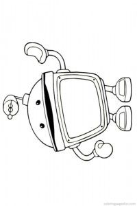 free coloring page team umizoomi bot