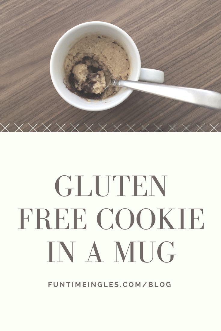 In only 2 minutes, enjoy a delicious - gluten free - cookie in a mug! En tan sólo 2 minutos, disfruta de una deliciosa - sin gluten - galleta en una taza!