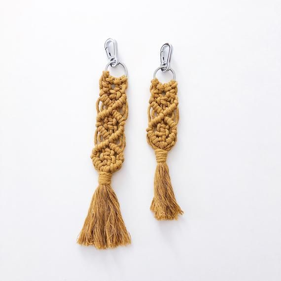 Macrame Keychain | Want | Macrame, Personalized items