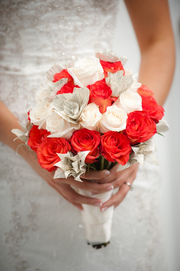 Julie's orange and white with paper flowers, bouquet: Paper Flower Bouquets, Flowers Power, Green Weddings, Paper Flowers Bouquets