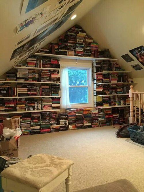 A cozy book loft...