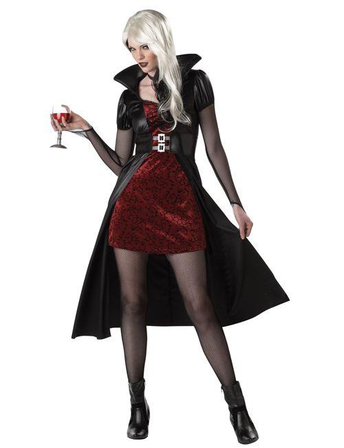 Blutrünstige Vampir Lady Damen-Kostüm - Artikelnummer: 453100000 - ab 49.99EURO - bei HORRORKLINIK.de!