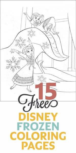 15 Free Disney Frozen Coloring Pages! :)