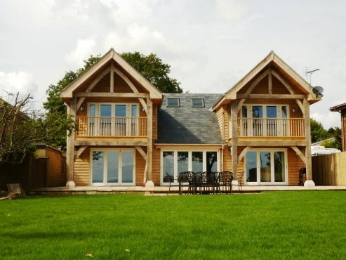 New green oak framed beach house on Isle of Wight