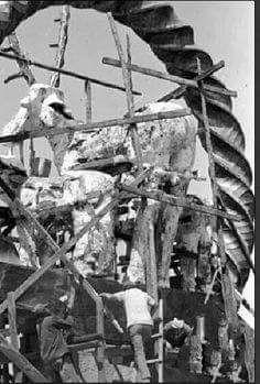 Hitit Heykeli yapılırken Ankara, 1978