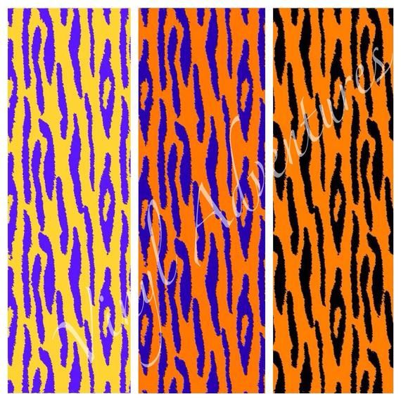 Tiger Print Heat Transfer Vinyl Animal Print Htv Purple Etsy Patterned Vinyl Print Patterns Tiger Print