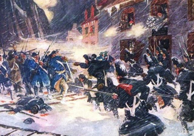 My grandfarther great uncles fought in this mess and Defeat in the Snow: Battle of Quebec (1775)