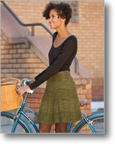 """Knit skirt pattern. Knit it inside out on circulars so you knit instead of purl the whole thing. Make waistband 3"""" smaller than waist size for perfect fit."""