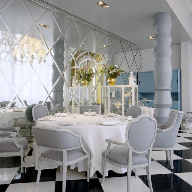 The Decorista Domestic Bliss: Dining In Madrid, Old Hollywood Glam Style. Mirror  MirrorMirror Wall ... Part 55