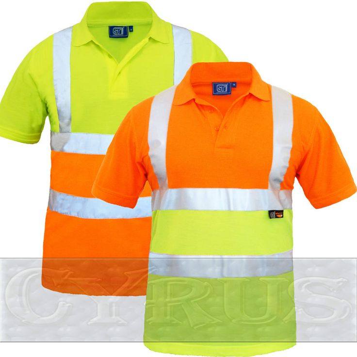 Hi vis hi viz high visibility polo shirt short sleeve 2