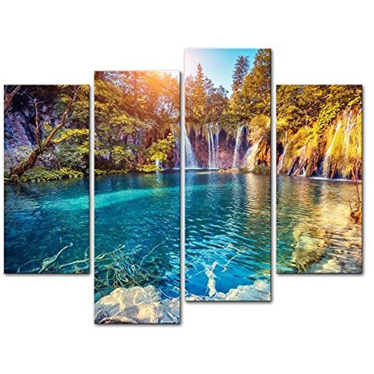 Attrayant [Framed] Sunny Lake Landscape Nature Modern Canvas Art Prints Picture Wall  Decor
