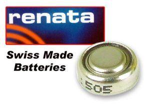 Renata 377 SR626SW Pile bouton Argenté 1,55 V Fabriquée en Suisse (électronique/batterie/piles de montre)