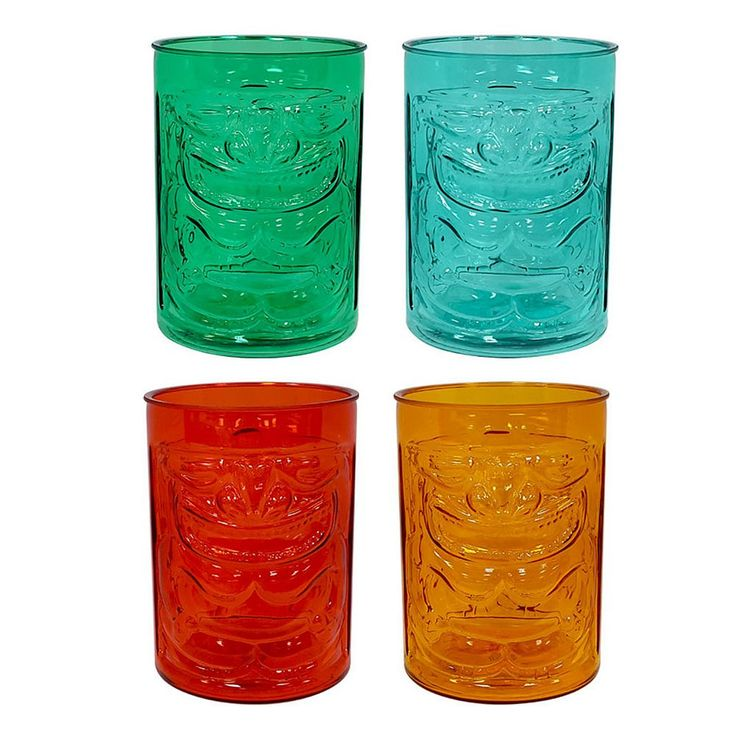 Celebrate Summer Together 4-pc. Acrylic Tiki Glass Set, Multicolor