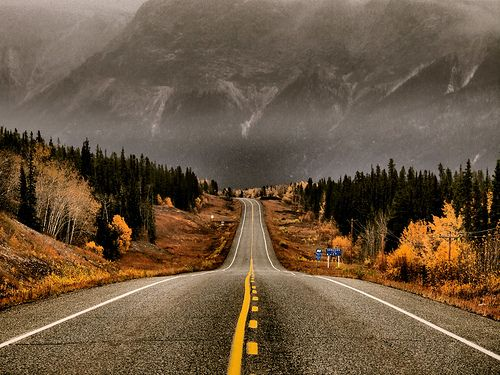 Winter Down The Road - Alaska Highway, Yukon
