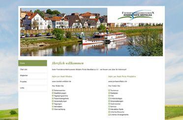 Webseite Fremdenverkehrsverein Minden-Porta Westfalica e.V.