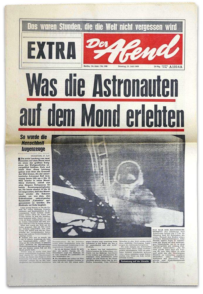 21.07.1969 - Apollo 11 auf dem Mond. Zeitungen und Zeitschriften zu diesem und anderen Ereignissen bekommt Ihr in unserem Archiv unter www.geschenkzeitung.de