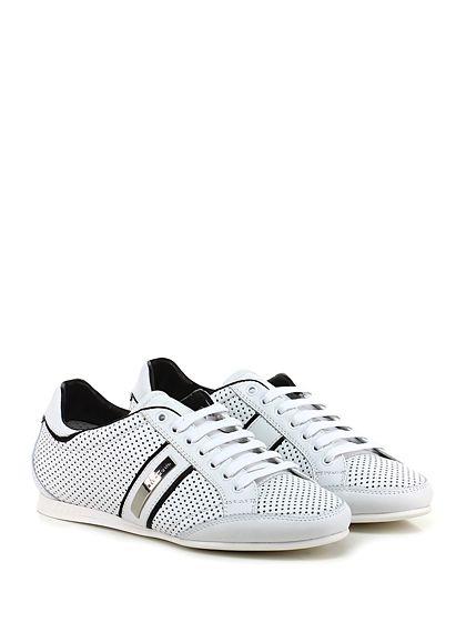 JOHN RICHMOND - Sneakers - Uomo - Sneaker in camoscio micro forato con suola in gomma, tacco 15. - WHITE - € 255.00